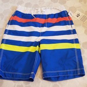GAP striped boy swim trunks
